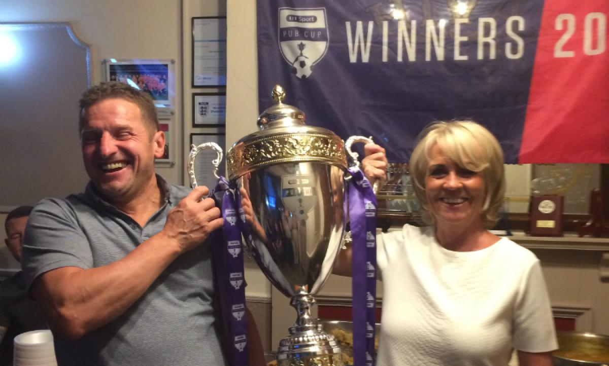 Liver Vaults owners Trevor and Yvonne Mason celebrate after being crowned 2017 Champions